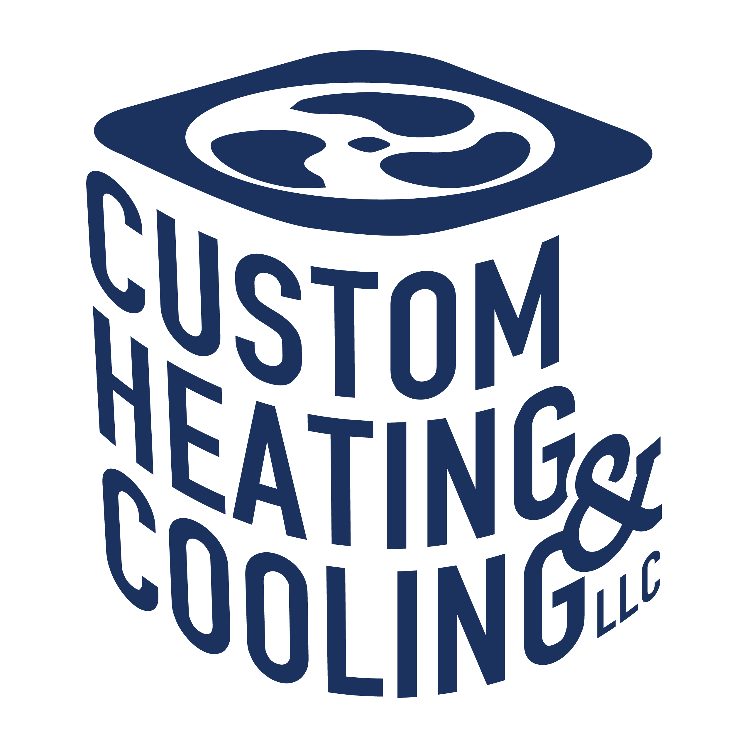 Logo, Custom heating and Cooling LLC